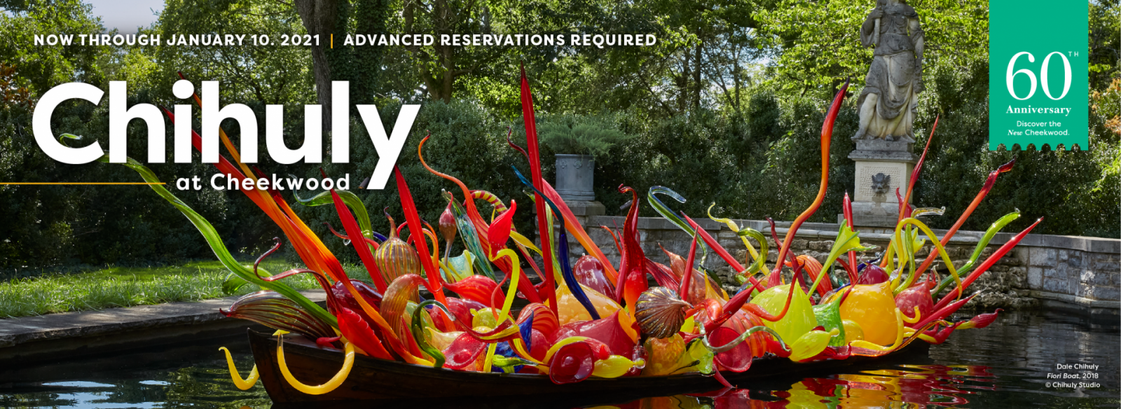 Chihuly at Cheekwood July 18 - January 10