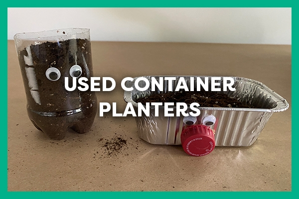 used container planters
