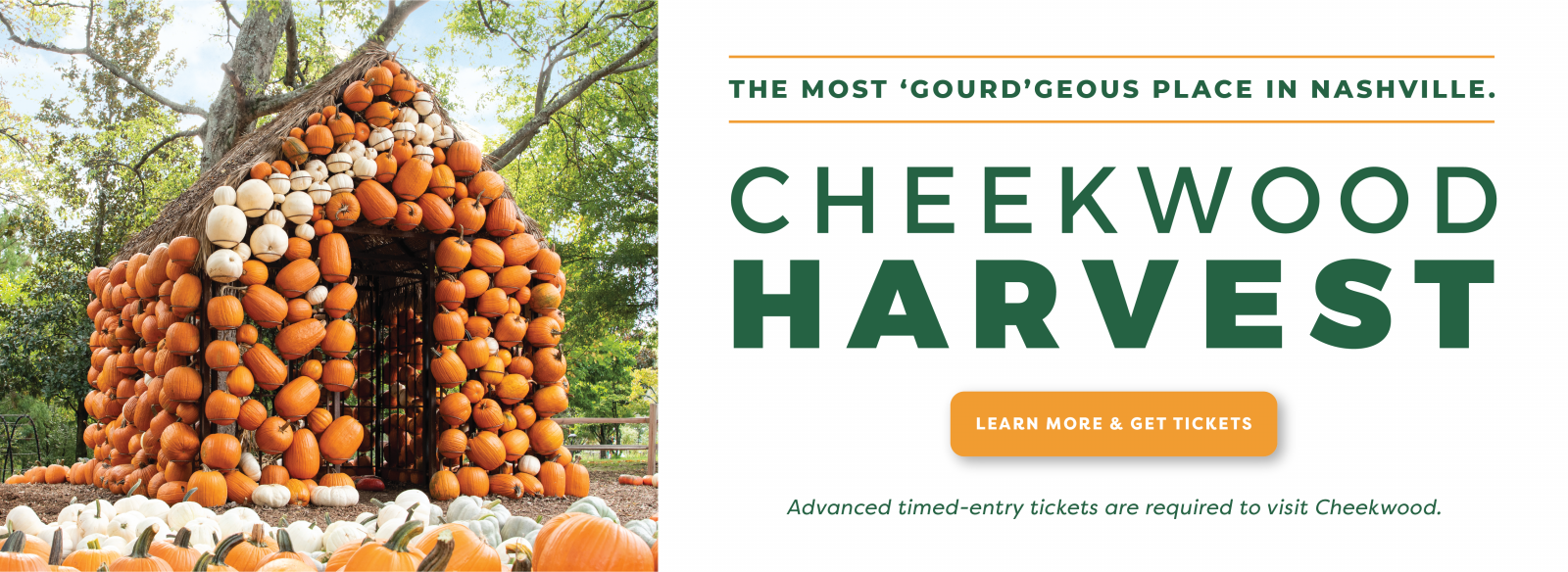 Cheekwood Harvest - Advance Reservations Required